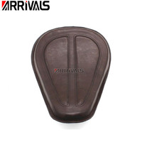 Motorcycle Black/Brown Solo Seat Saddle Seat For Harley Dyna Fatboy Sportster Softail XL1200 XL883