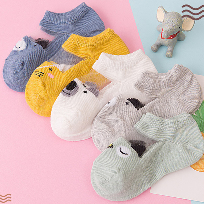 5Pairs/lot Infant Baby Socks Summer Mesh Thin Baby Socks for Girls Cotton Newborn Boy Toddler Socks Baby Clothes Accessories 3