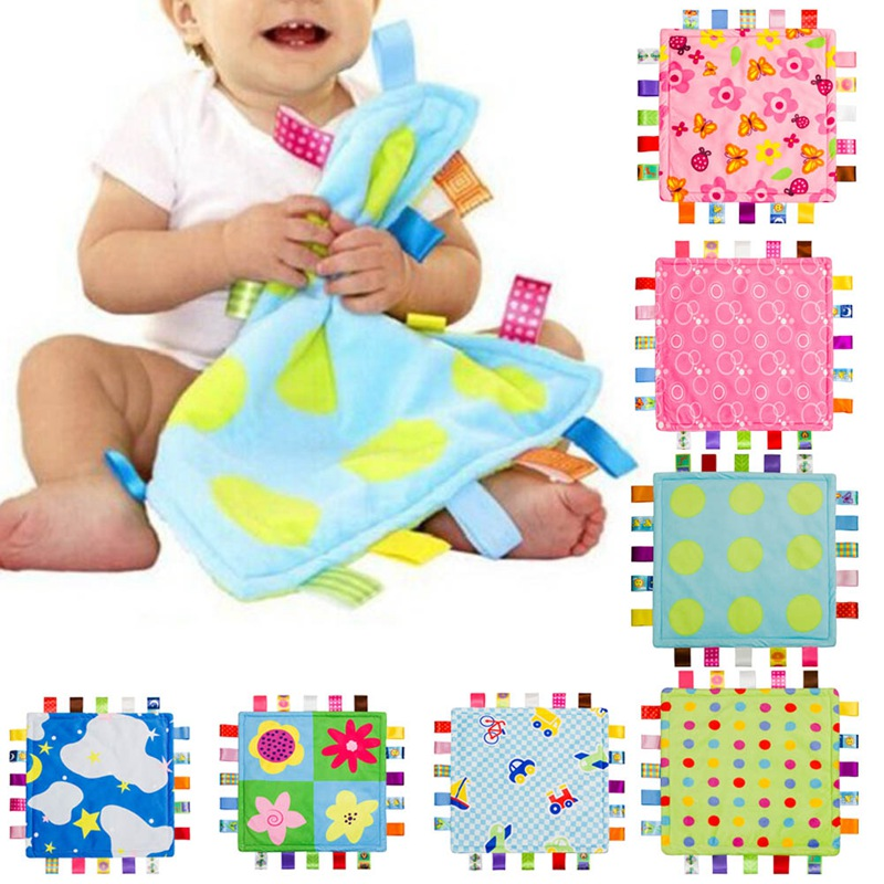 8 Style 26.5cm 26.5cm Baby Comforting Blanket Super Soft Square Chewing Plush  Baby 8decb4854