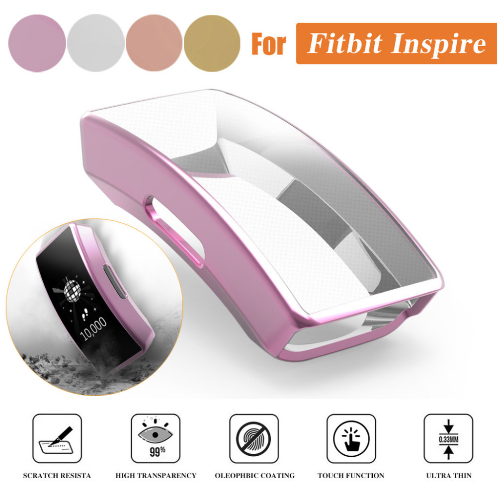 For Fitbit Inspire Watch Wristband Cover Protection Ultra-thin Plating Soft Tpu Protection Case Cover #p4 Home