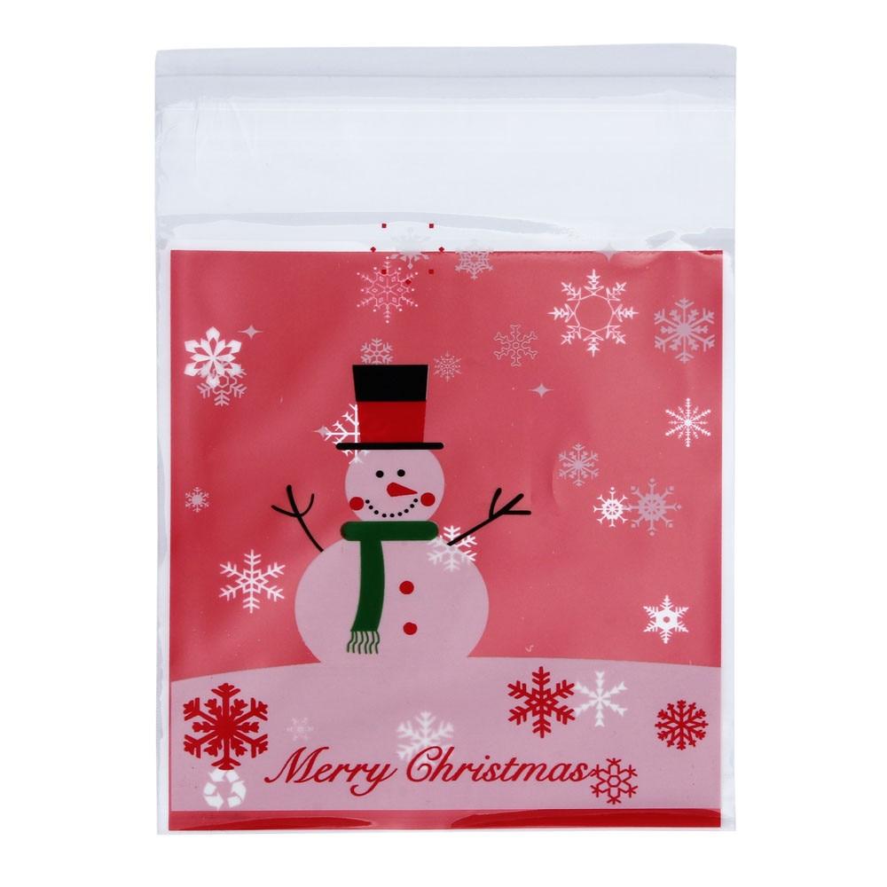 Набор уменьшить Обёрточная бумага Сумки OPP Рождество снеговик торт Сумки конфеты Обёрточная бумага Ping Бумага Санта мешок Navidad decoraciones para el ...