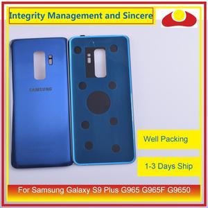 Image 5 - Original para samsung galaxy s9 plus g965 g965f g9650 SM G965F habitação porta da bateria traseira de vidro caso capa chassis escudo