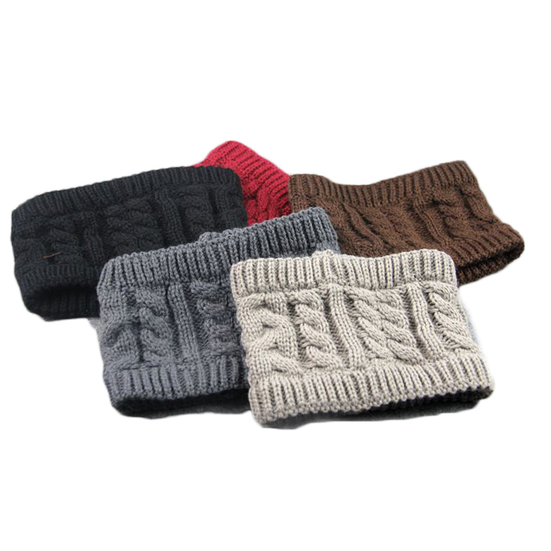 4pcs Fashion Knitted Headbands Headwear for Women Winter Warm Crochet Stretch Twist Head Band Turban Hair Accessories for Girl