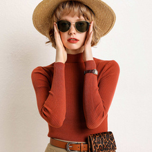 adohon 2019 woman winter 100% Cashmere sweaters and auntmun knitted Pullovers High Quality Warm Female Office Lady Turtleneck adohon 2018 womens winter cashmere sweaters and auntmun women knitted pullovers turtleneck high quality warm female solid