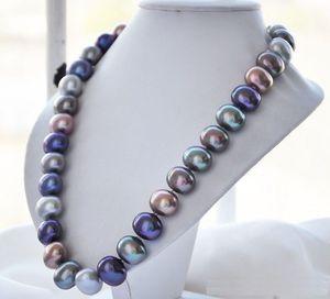 Image 3 - Перламутровое ожерелье с ручной узелкой, 16x19 мм, белого цвета, 18 дюймов, модные ювелирные изделия