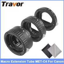 Travor MET-C4 Plastic Auto Focus AF Macro Extension Tube For Canon EF-S Lens DSLR Camera with 2pcs Microfiber Lens Cloth