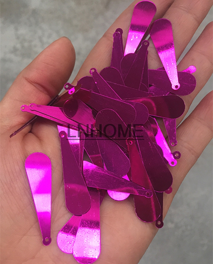400pcs/lot 10*35mm Long Baseball Bat Sequins Pvc Flat With Side Hole Oval Belly Costume Dress Accessories Rose Red Promote The Production Of Body Fluid And Saliva Home & Garden Arts,crafts & Sewing