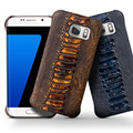 New Arrival Special Ostrich Leg Texture Case for Samsung Galaxy S7 & S7 edge Top Layer leather Case for Samsung S7 cover
