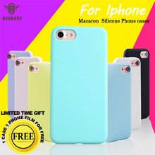 Case For iphone 6 6s Fundas Soft Macaron Silicone Phone 7 5 5s se 8 Plus Capa