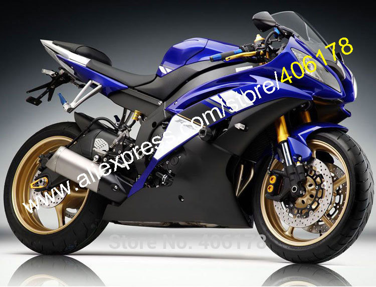 Hot Sales,YZF R6 Fairings For Yamaha R6 2008-2016 YZFR6 08 09 10 11 12 13 14 15 16 YZF-R6 Blue Black fairing (Injection molding) injection molding bodywork fairings set for yamaha r6 2008 2014 all matte black full fairing kit yzf r6 08 09 14 zb74