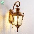 Vintage LED Outdoor Wandlamp Waterdichte Veranda Buiten Lampen E27 Lamp Exterieur Tuin Balkon Brons Yard Home Verlichting