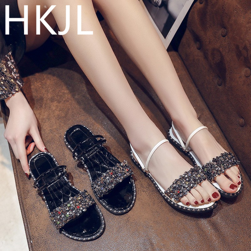 HKJL 2019 new cubs bottom slippers for women to wear fashionable all-in-one Korean version of non-slip A726