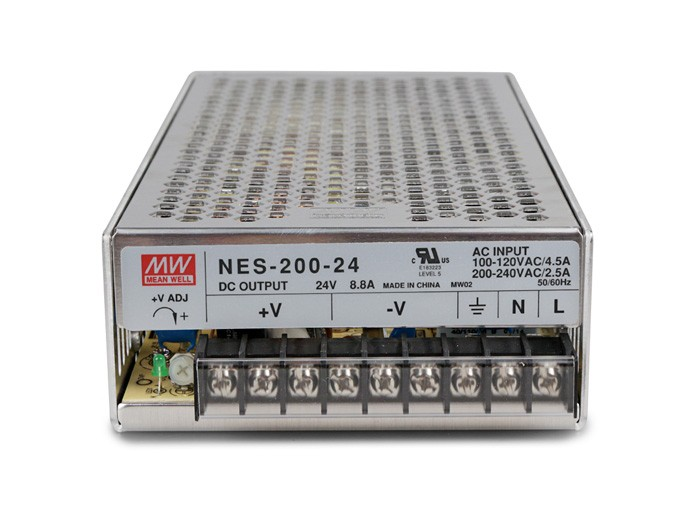 Original MEAN WELL 200W Single Output Switching Power Supply NES-200 switching power supply mean well original new nes 100 24 24v 4 5a 108w single output