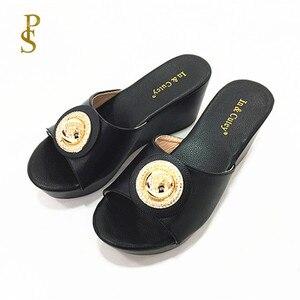 Image 3 - Talon compensé chaussures à semelle en polyuréthane femmes à talons hauts