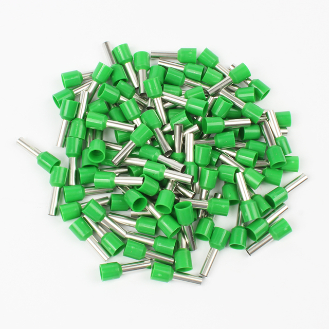 DIANQI E6012 Tube insulating terminals 6MM2 100PCS/Pack Cable Wire Connector Insulating Crimp Terminal Insulated Connector E-