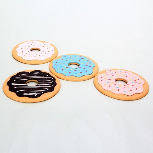 4 Pcs Doughnut Coasters