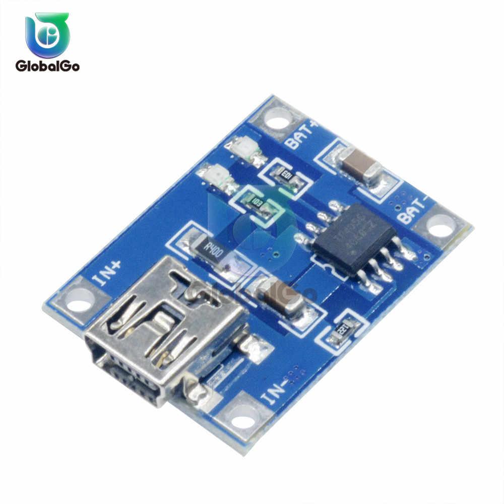 1 шт. 5в 1A Мини Micro usb type C USB 18650 TP4056 литиевый модуль зарядного устройства аккумулятора зарядная плата с защитой двойной функции