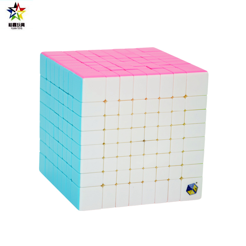 Zhisheng/Yuxin Huanglong 8*8*8 Cube Stickerless Pink(Candy) 8-Layer Professional Speed Magic Cube Educational Toys 8x8x8 Black