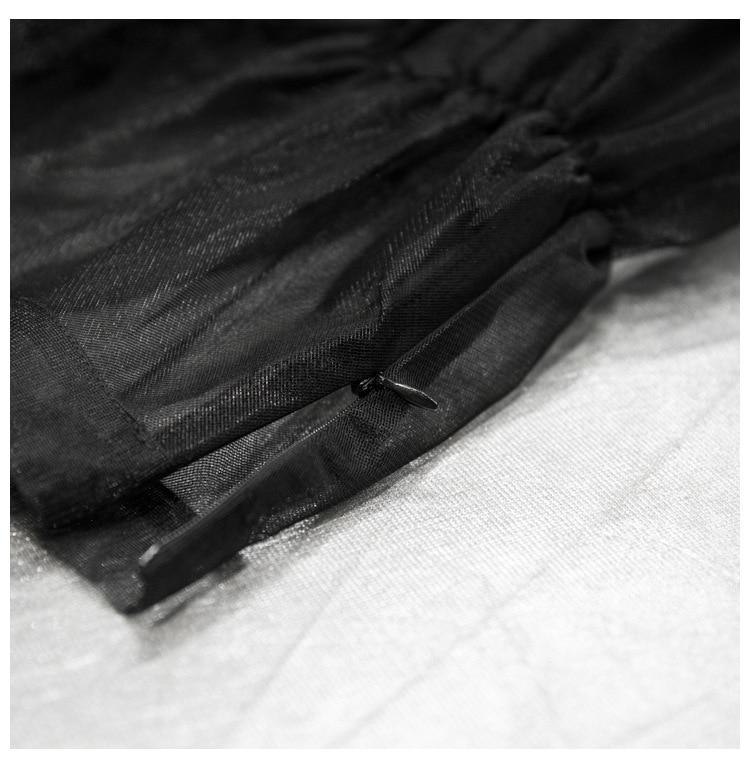 Getsring Transparente Faldas Falda Black Las Con Primavera Señoras Cintura Otoño Mujeres Elástico Encuentro Forro De white Todo Alta wxr05RUrqE