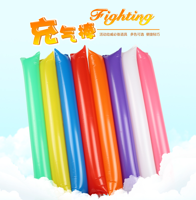 10pcs 60cm Inflatable Cheer Sticks Cheerleaders Inflatable Stick Against Cheering Sticks Dance Concert Party Noise Maker Ballon