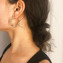Earrings Fashion Bohemian Gifts Earrings For Women Alloy Bamboo Jewelry Exaggerated Creativity Boho Style