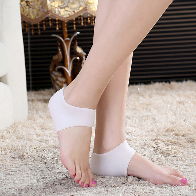2PC New Soft Silicone Moisturizing Gel Heel Socks Anti-slip Maintenance Cracked Foot Skin Care Protectors foot care