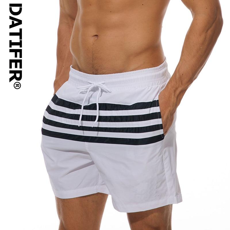 Datifer Brand Sexy Men's Board Shorts Bermuda Short Pants Quick Dry Beach Wear Briefs For Men Swim Trunks XXL