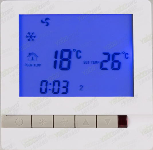 Free Shipping Central Air Conditioning Thermostat LCD Digital Display SML-210 For 2 Pipe Fan Coil Unit With Back Light