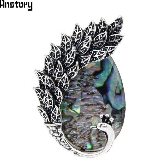 Shell Perle Papillon Animal Broches Vintage Antique Look Argent Plaqué Mode Bijoux BR21
