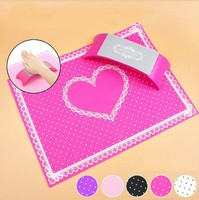 1Set Nail Art Equipment Advanced Silicone Plastic Pillow Hand Holder Cushion Table Mat Pad Foldable Washable