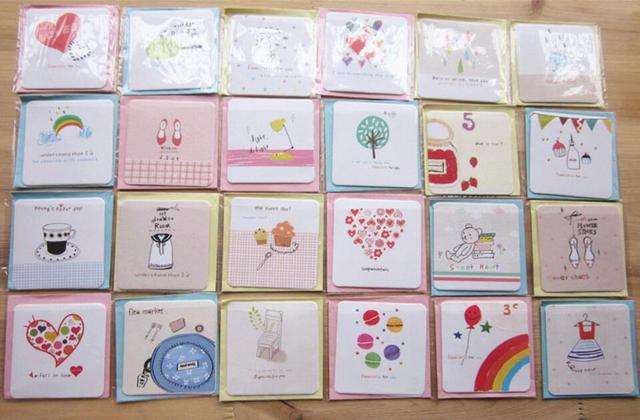 Aliexpress buy s20di5 hot sale 336pcslot ideas small card for s20di5 hot sale 336pcslot ideas small card for valentines day greeting cards mini cartoon m4hsunfo
