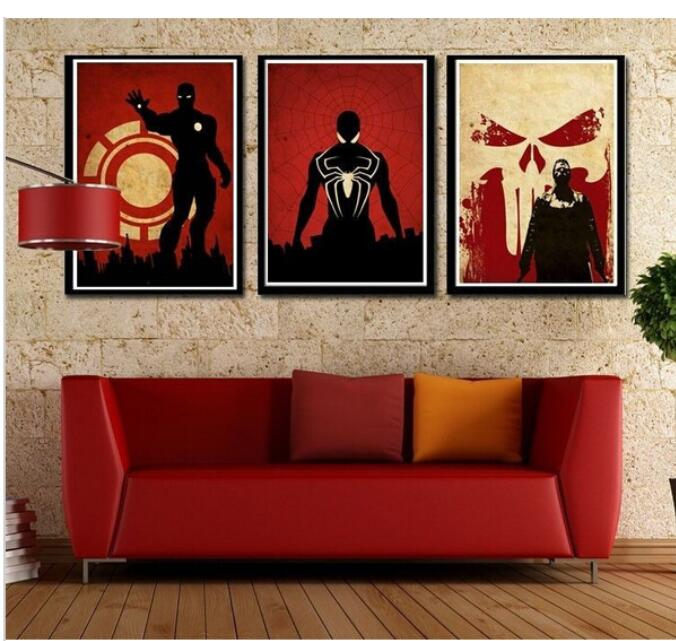 3 Piecesset Handmade Oil Painting On Canvas Wall Art Home Decor Rhaliexpress: Superhero Home Decor At Home Improvement Advice