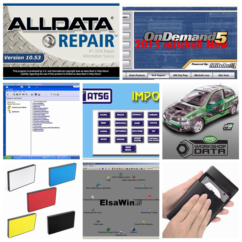 2018 Alldata mitchell on demand Software All data 10.53+mitchell on demand 2015+Vivid workshop+ElsaWin+atsg 24 in 1tb hdd usb3.0 alldata and mitchell software alldata auto repair software mitchell ondemand 2015 vivid workshop data atsg elsawin 49in 1tb hdd