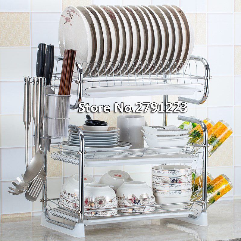 New S shaped 2 3 layer cutlery stand shelf cutlery dish rack dish rack kitchen cutlery