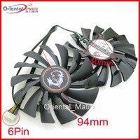 2pcs Lot POWER LOGIC PLD10010S12HH 94mm 12V 0 40A 6Pin For MSI GTX980Ti GTX970 GTX980 Graphics