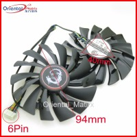 2pcs Lot POWER LOGIC PLD10010S12HH 94mm 12V 0 40A 6Pin For MSI GTX980Ti GTX970 GTX980 Graphics