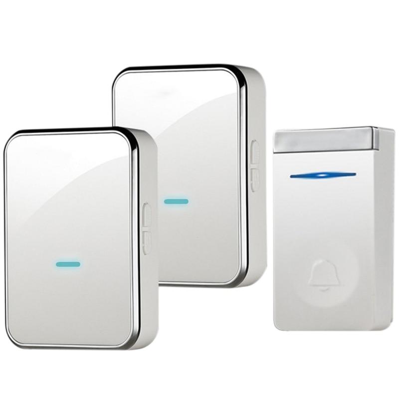 Eu Plug Self-Generating Doorbell Wireless Smart Doorbell Long Distance One For Two Waterproof Without Battery Door Ling