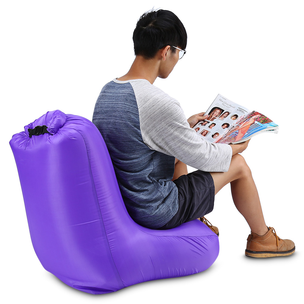 DL1620 Portable Water Resistant Max 150kg Loading Fast Inflatable Chair Sofa For Beach Party Rest