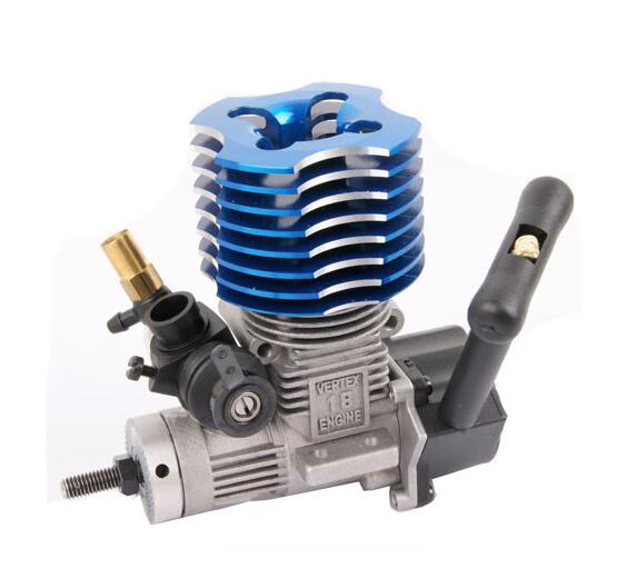Free Shipping HSP Vertex 18 Nitro Engine with N3 Glow Plug and pull starter for 1/10 Scale Models RC Car 02060 free shipping rc car 1 10 hsp 02060 bl vx 18 engine 2 74cc pull starter blue for rc 1 10 nitro car buggy truck 94122 94166 94188