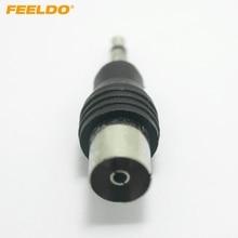 FEELDO 1 шт. автомобильный двигатель 3,5 мм TRS разъем IEC(мама) адаптер Разъем# AM1547