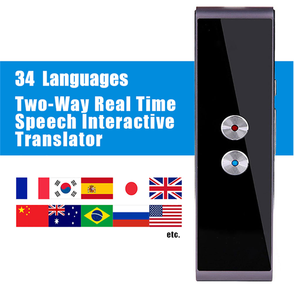 HTB1Fr5AvQKWBuNjy1zjq6AOypXa3 T8 Pocket Voice language Translator 30 Languages Two Way Real Time Intercom Portable Translator For Personal Learning Travelling