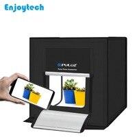 PULUZ New 40*40*40CM Mini Photostudio Softbox Studio Portable Desktop Photo Box Photography Studio Soft box With LED Lighting