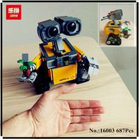 IN STOCK 687pcs Free Shipping New Lepin 16003 Idea Robot WALL E Building Set Kits Bricks