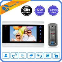 7 inch LCD Video Doorbell Monitor Intercom 1200TVL Outdoor Camera IP65 Door Phone Night Vision Unlock Intercom System SD Record