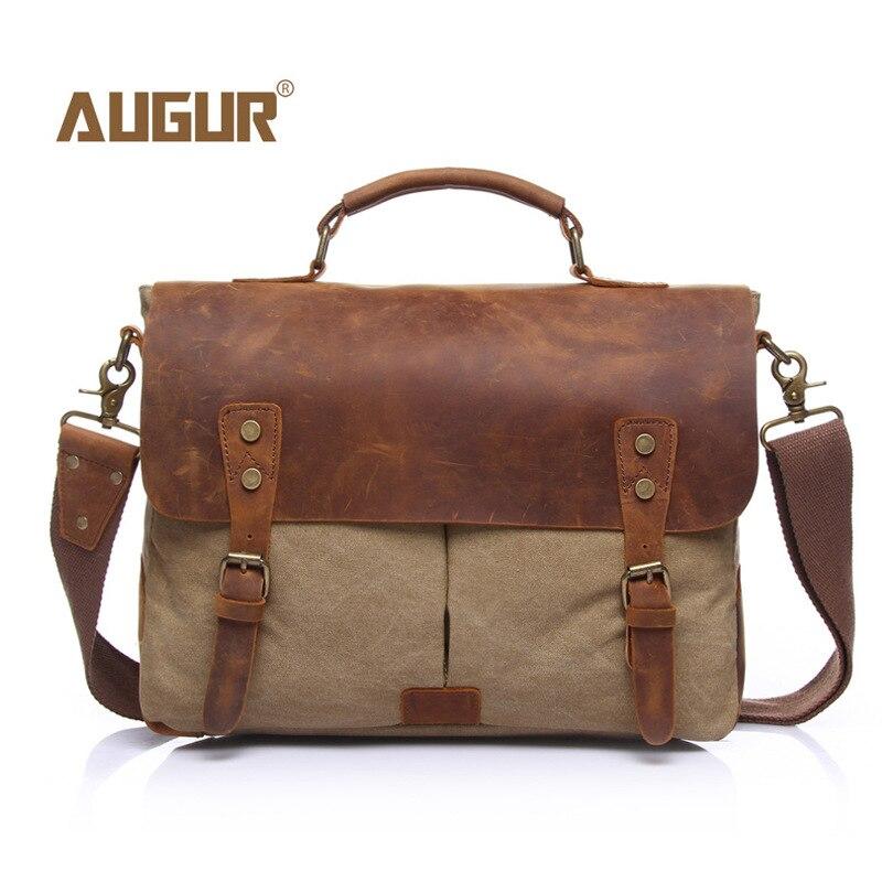 Date toile sac à bandoulière de haute qualité en cuir sac à main Vintage Messenger sac grande capacité sacs d'école loisirs cartables