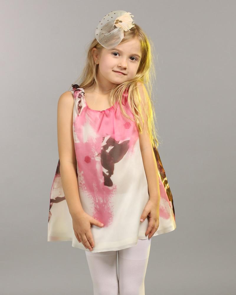 a1241da4036f 2015 Designer Baby Clothes Customize Junior Girls Sleeveless Ink Print  A-line Dress Girls Holiday Dresses