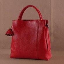 Мода Личи узор из натуральной кожи Кроссбоди мешок Для женщин сумки на плечо известный дизайнер Винтаж кисточкой большой Для женщин Дамы Tote