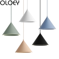 Nordic style creative led chandelier macarons color chandelier corridor living room bedroom dining room decoration lamps new