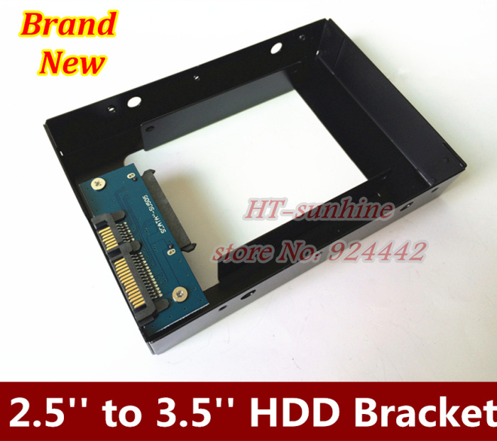 Brand New   SSD/HDD 2.5'' to 3.5'' Mounting Metal Bracket For Desktop PC case Tray Kit with screws  Free shipping brand new ssd hdd 2 5 to 3 5 mounting metal bracket for desktop pc case tray kit with screws free shipping