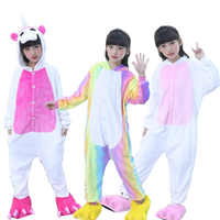 Children's Pajamas for Boys Girls Kigurumi Unicorn Pajamas Flannel Kids Stich Pijamas Set Animal Sleepwear Winter Onesies 4-12 T